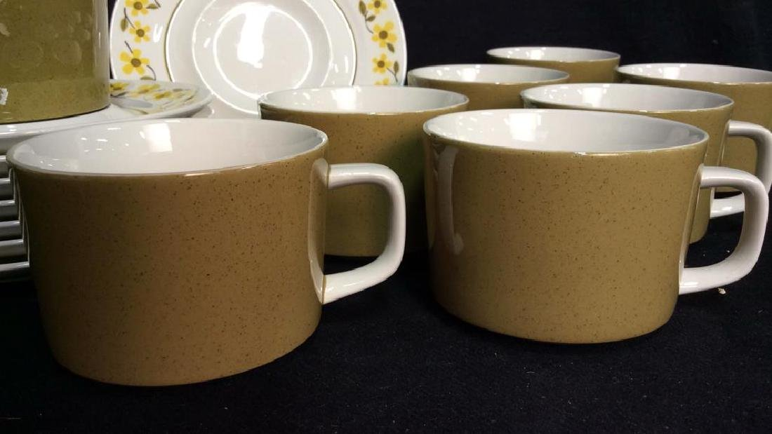 Set16 Mid Century 1970s MIKASA Teacups and Saucers - 2