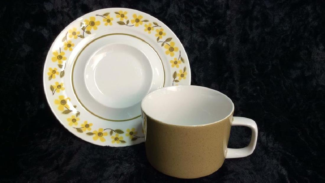 Set16 Mid Century 1970s MIKASA Teacups and Saucers - 3