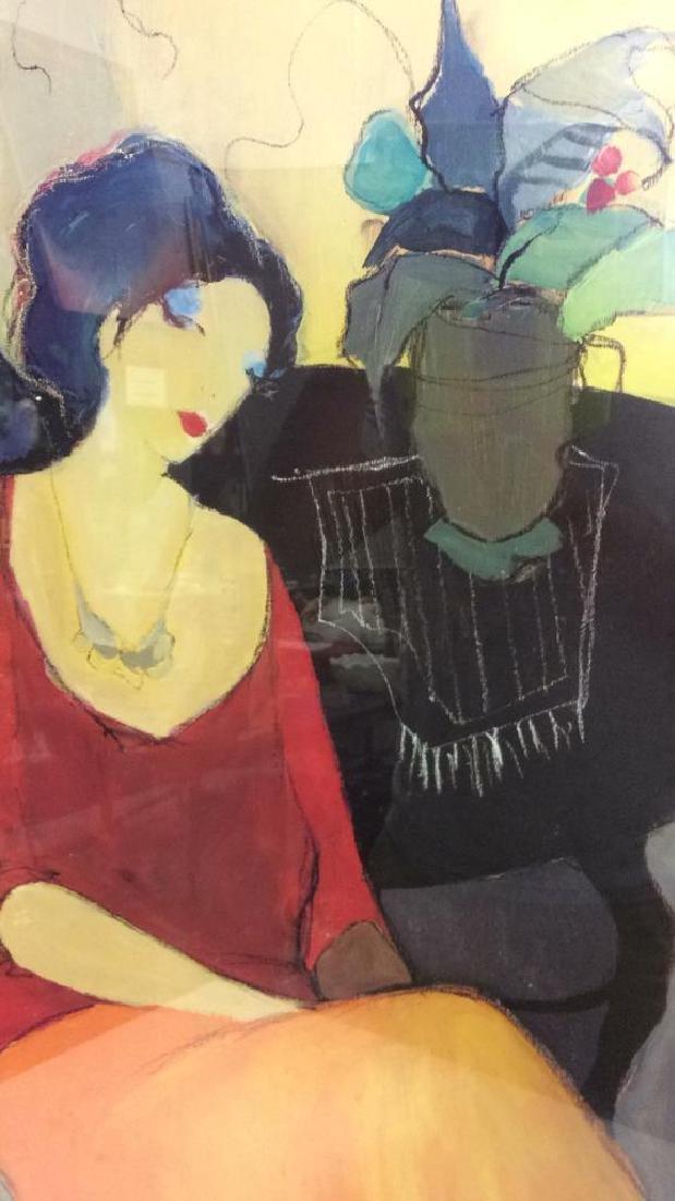 Itzchak TARKAY, WAITING Framed Lithograph Art - 10