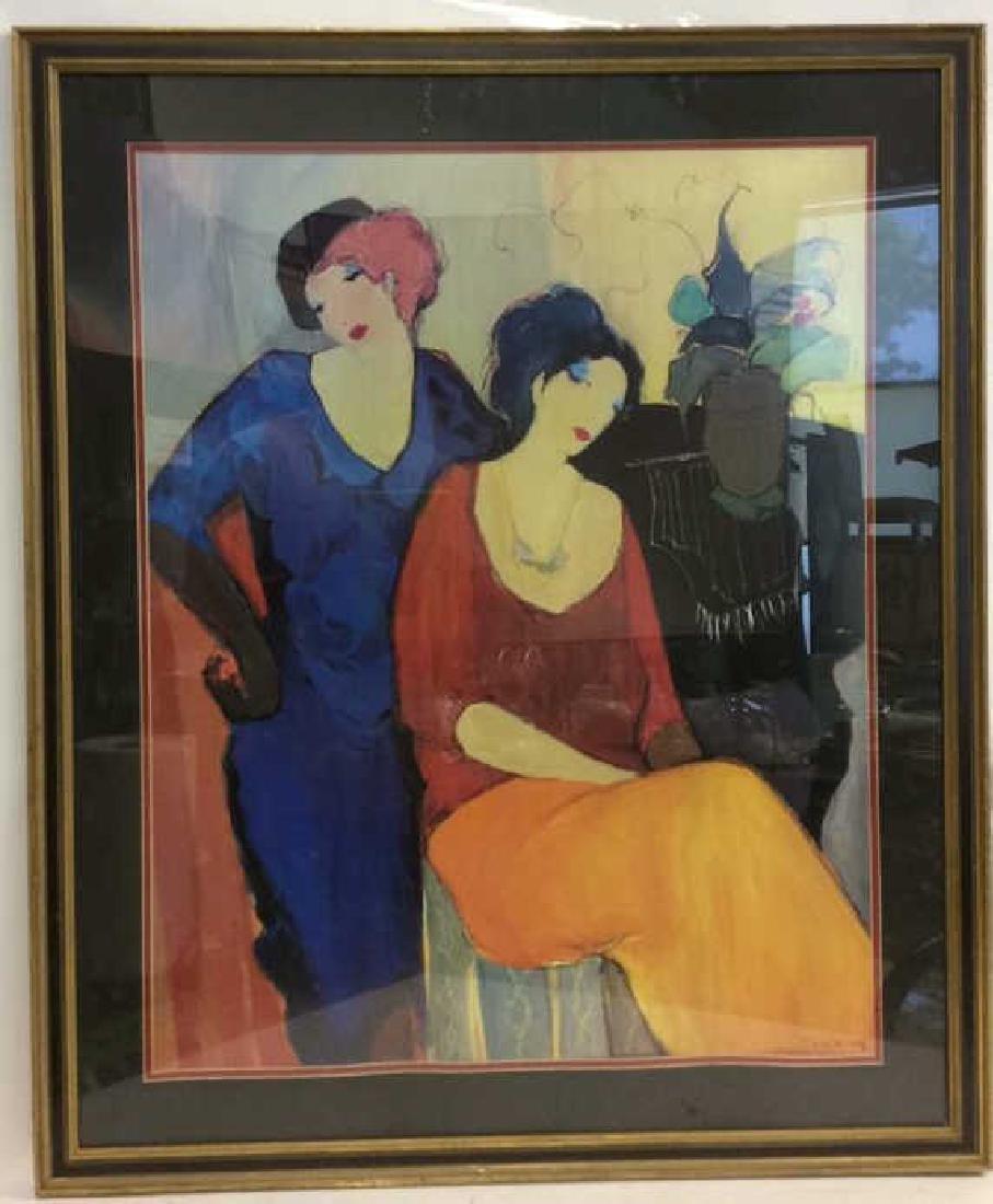 Itzchak TARKAY, WAITING Framed Lithograph Art