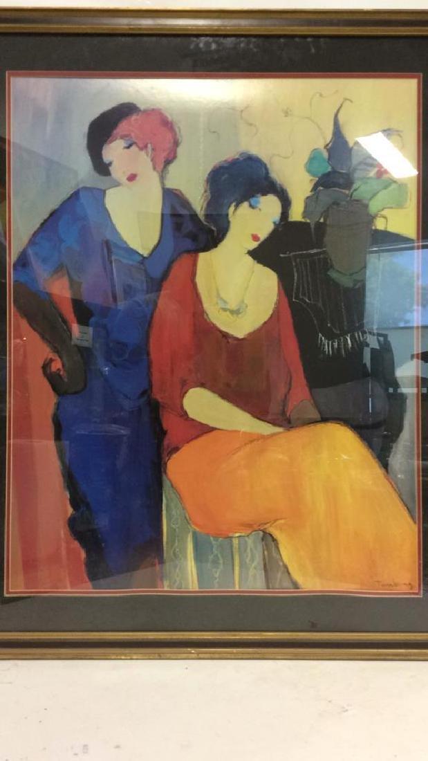 Itzchak TARKAY, WAITING Framed Lithograph Art - 2