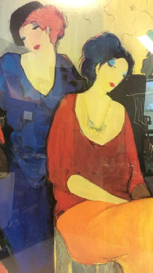 Itzchak TARKAY, WAITING Framed Lithograph Art - 4