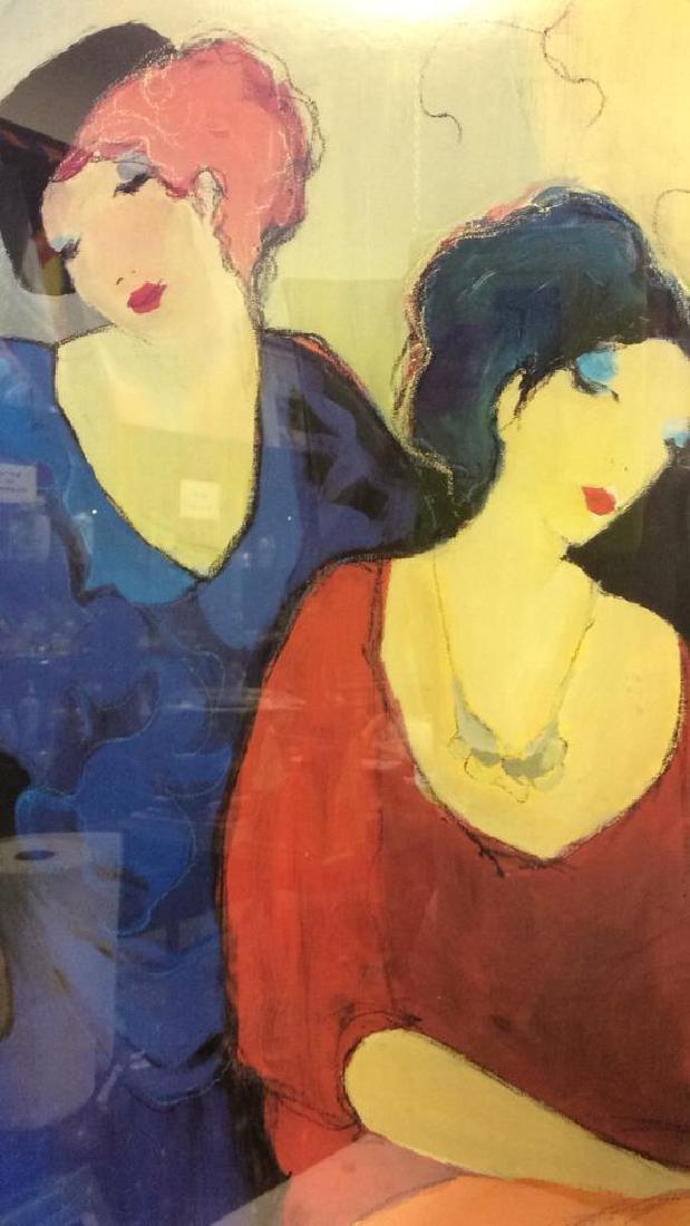 Itzchak TARKAY, WAITING Framed Lithograph Art - 5