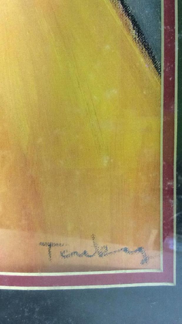 Itzchak TARKAY, WAITING Framed Lithograph Art - 9