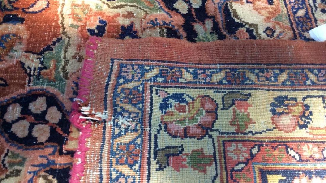 Antique Hand Made Wool Oriental Rug - 2