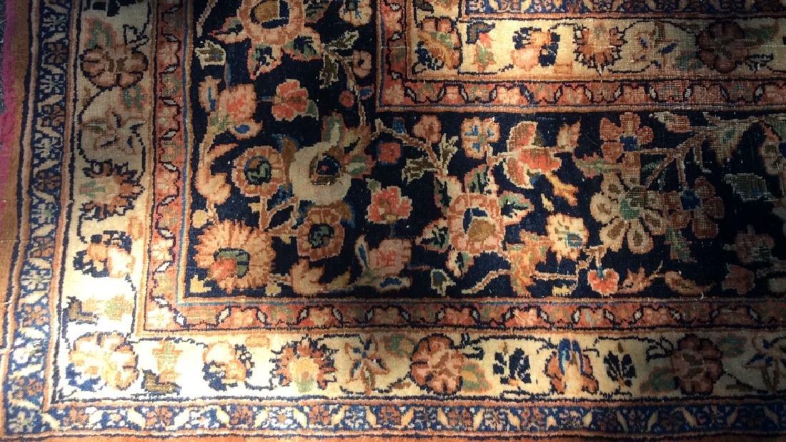 Antique Hand Made Wool Oriental Rug - 4