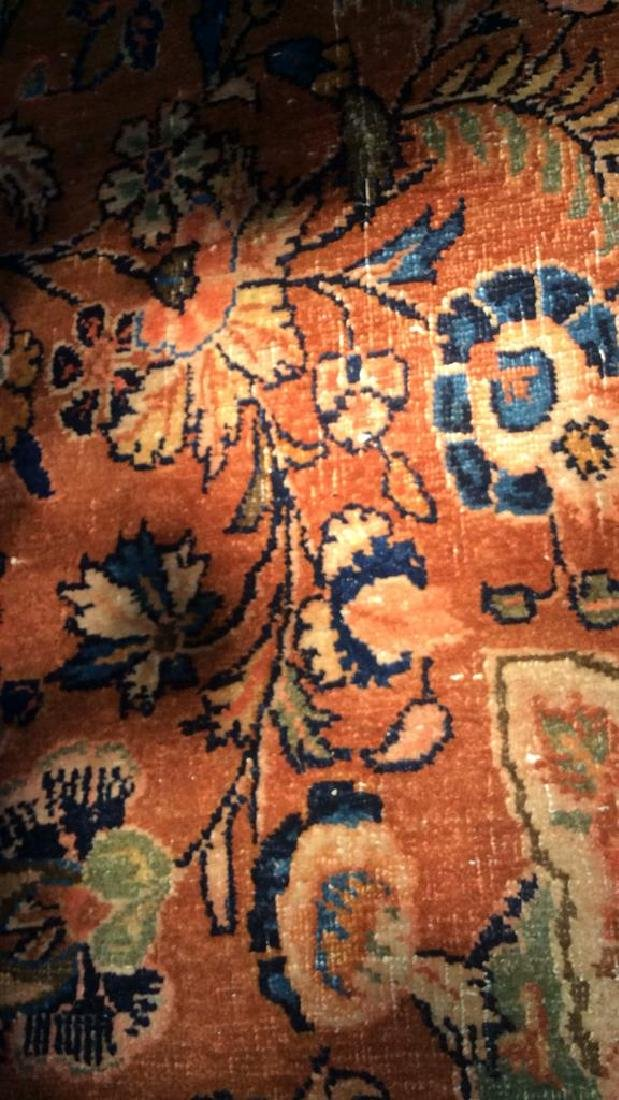 Antique Hand Made Wool Oriental Rug - 8