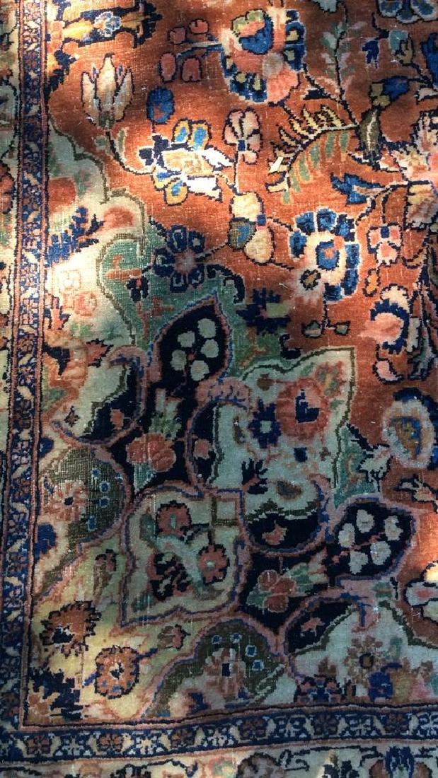 Antique Hand Made Wool Oriental Rug - 9