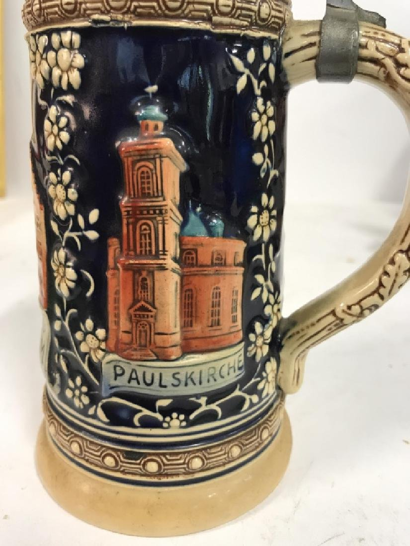 Ceramic Pewter Frankfurt German Beer Stein - 5