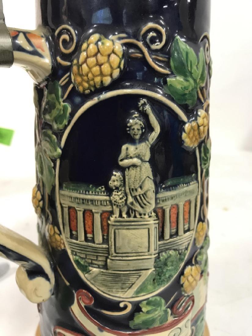 Ceramic Pewter MÜNCHEN German Beer Stein - 2
