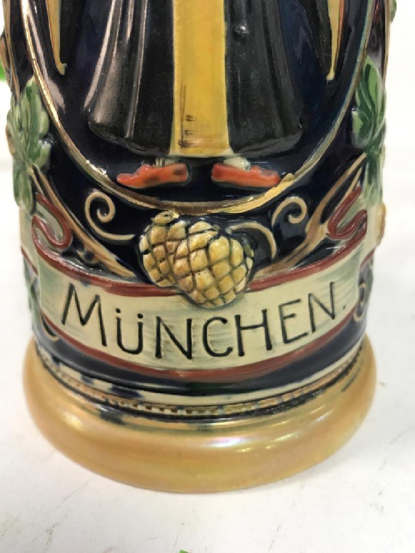 Ceramic Pewter MÜNCHEN German Beer Stein - 8