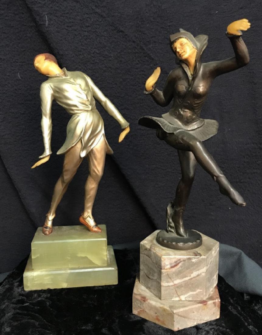 German Art Deco Dancing Figurals Vintage
