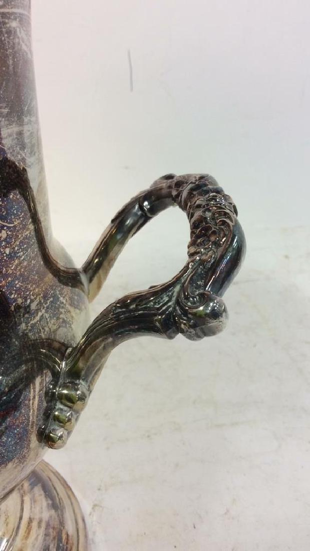 Silver Toned Handled Metal Ice Bucket - 9