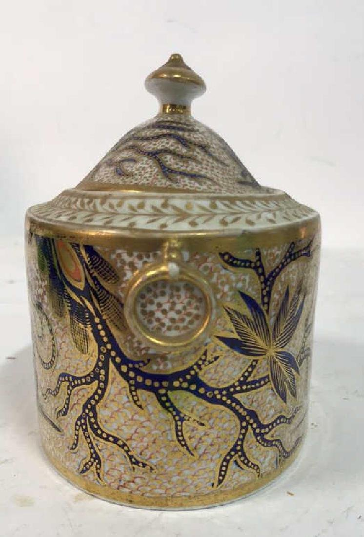 Intricate Design Porcelain Lidded Bowl w Dragon - 3