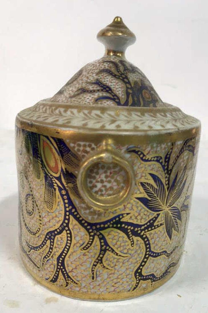 Intricate Design Porcelain Lidded Bowl w Dragon - 4