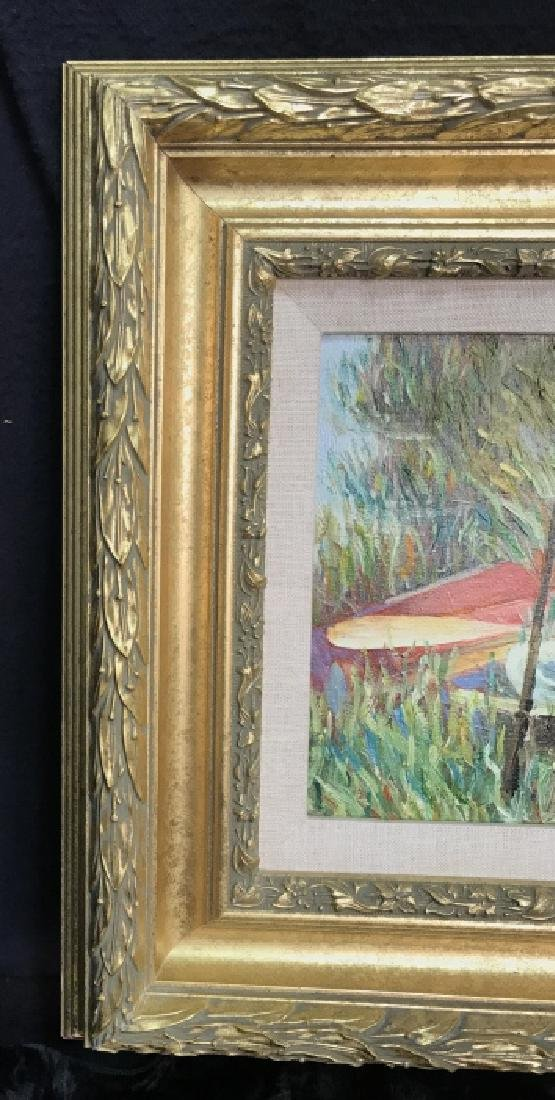 YOOLEY Signed Oil on Canvas Painting - 3
