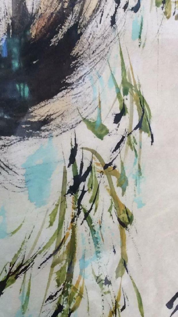 Asian signed Watercolor & Ink  Horse Illustration - 9