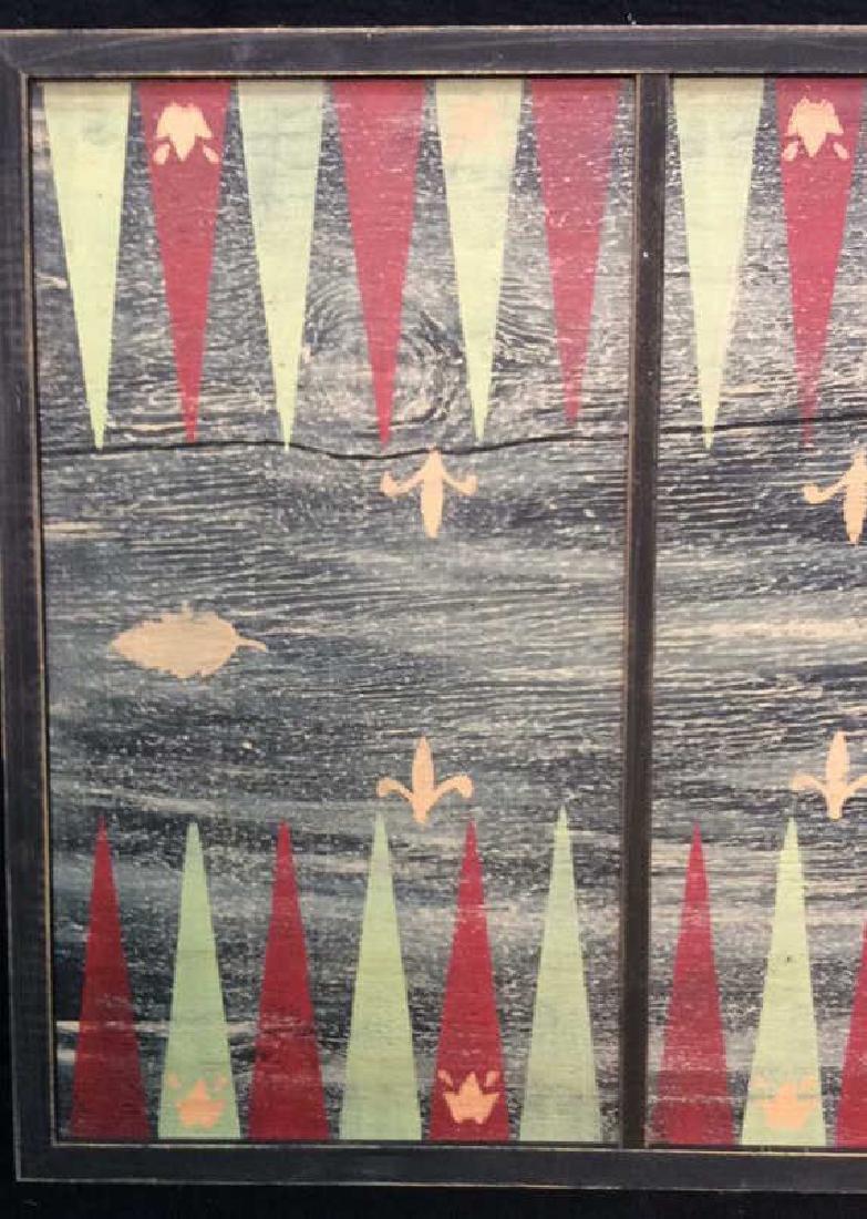 Folk Art Backgammon Painting on Wood - 2