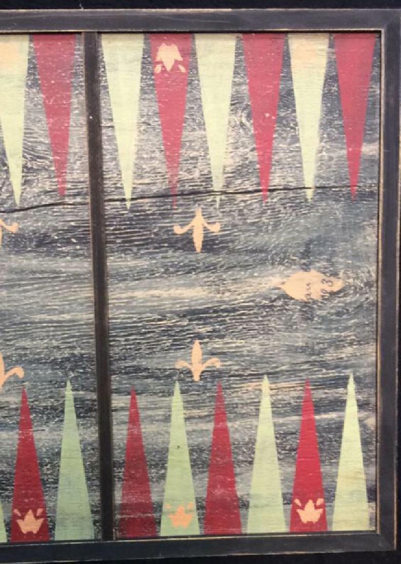 Folk Art Backgammon Painting on Wood - 3