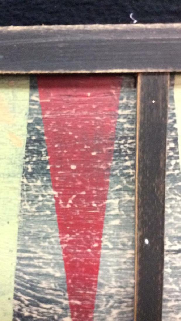 Folk Art Backgammon Painting on Wood - 7