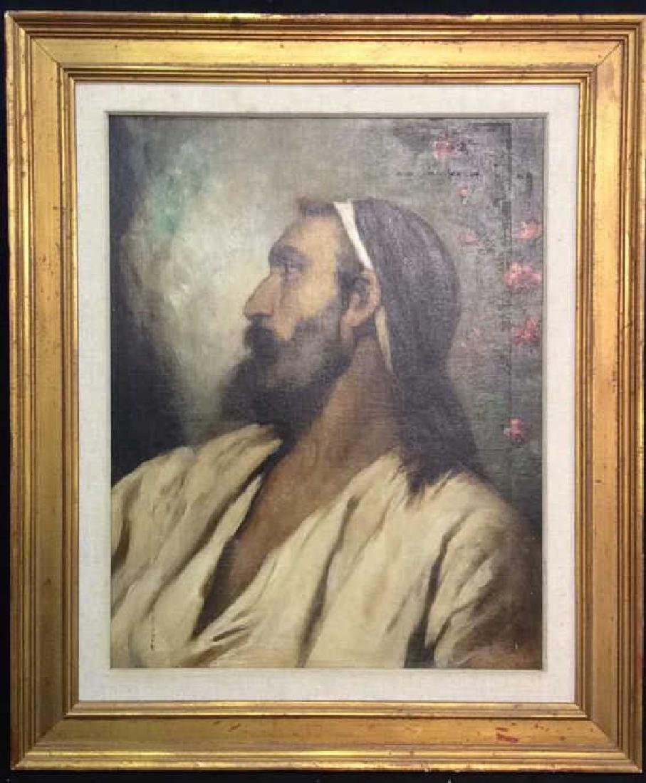 Oil On Canvas Portrait Of Male Figure