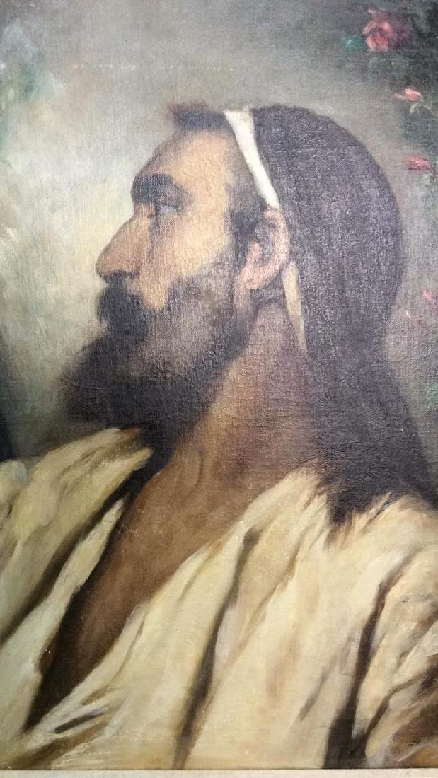 Oil On Canvas Portrait Of Male Figure - 3