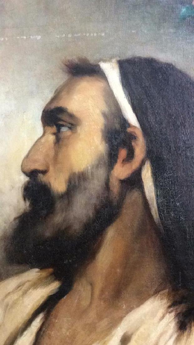 Oil On Canvas Portrait Of Male Figure - 5