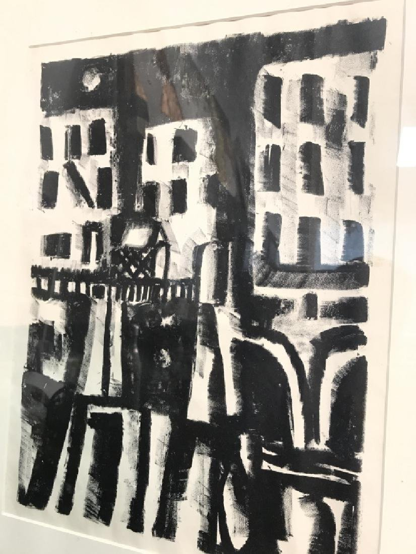 Signed Rosalie Spinelli Black and White Lithograph