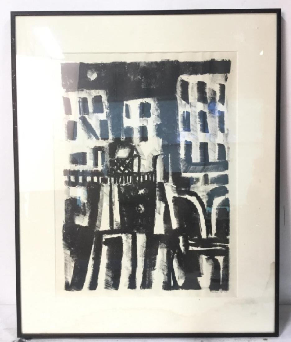 Signed Rosalie Spinelli Black and White Lithograph - 3