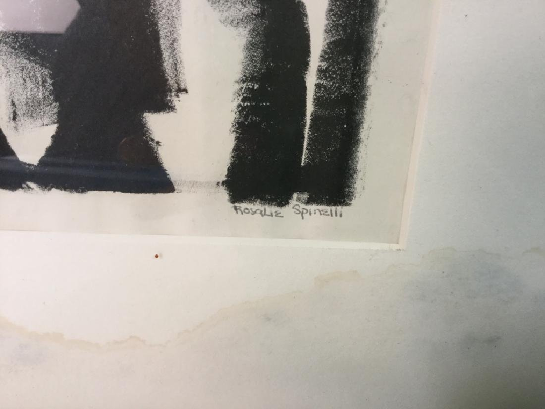 Signed Rosalie Spinelli Black and White Lithograph - 8