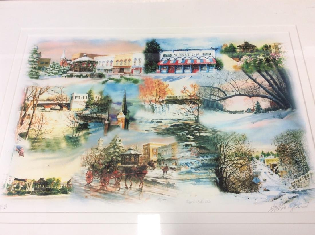 Signed Mary Ann, Ohio Scenery  Lithograph Framed - 2