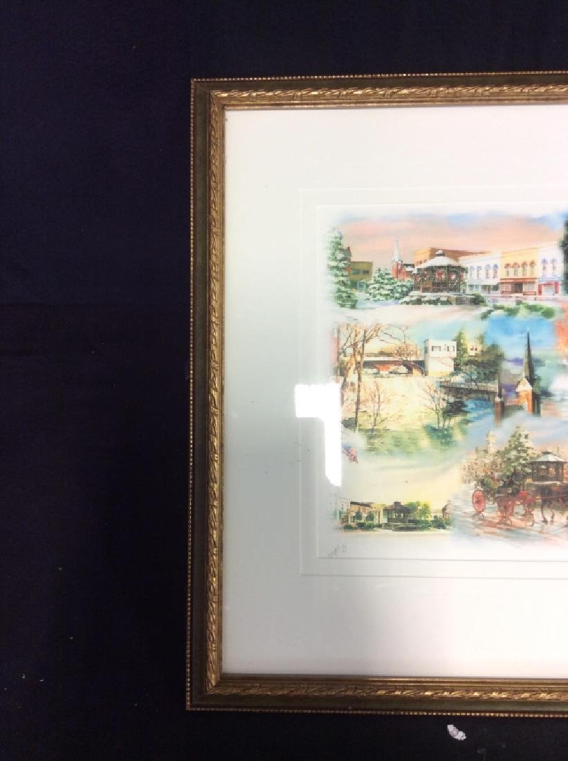 Signed Mary Ann, Ohio Scenery  Lithograph Framed - 4