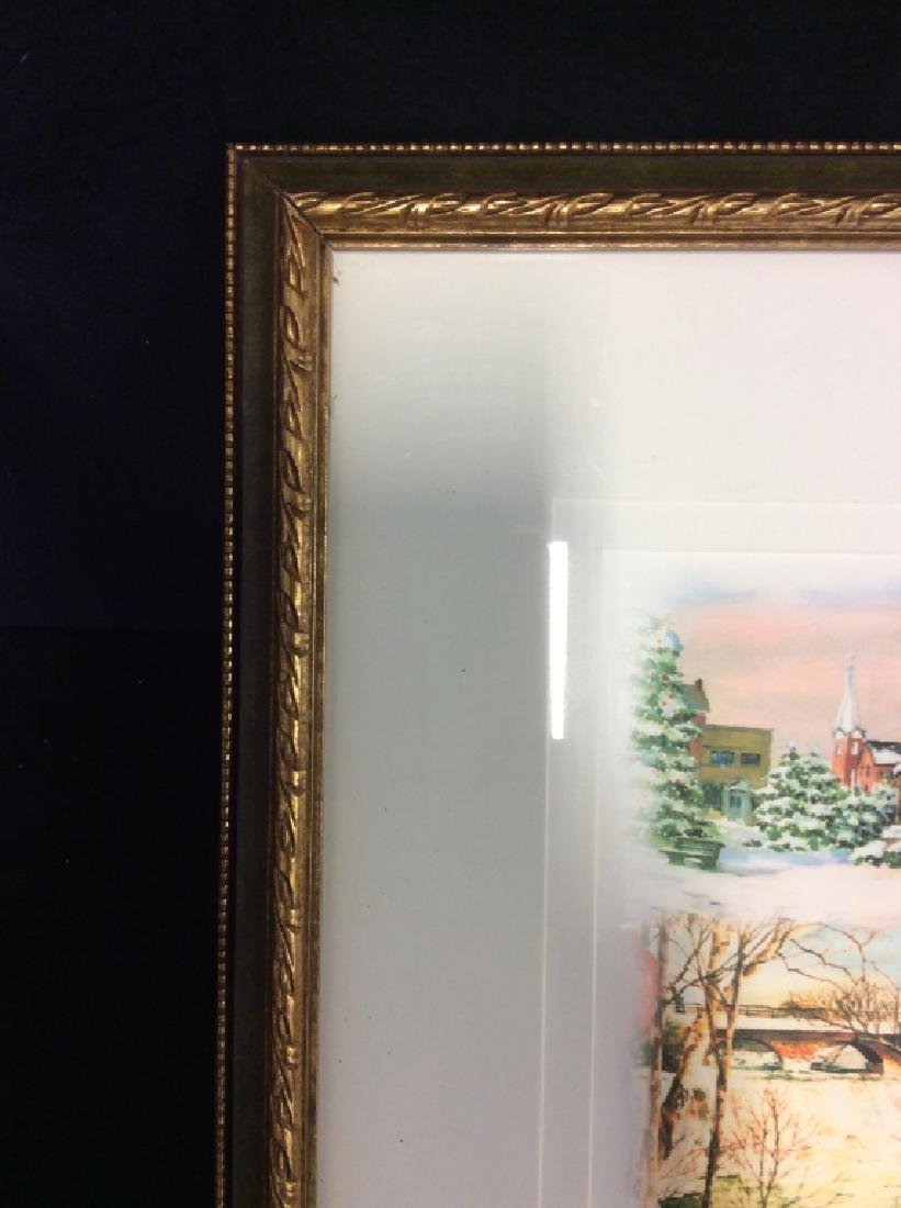 Signed Mary Ann, Ohio Scenery  Lithograph Framed - 5