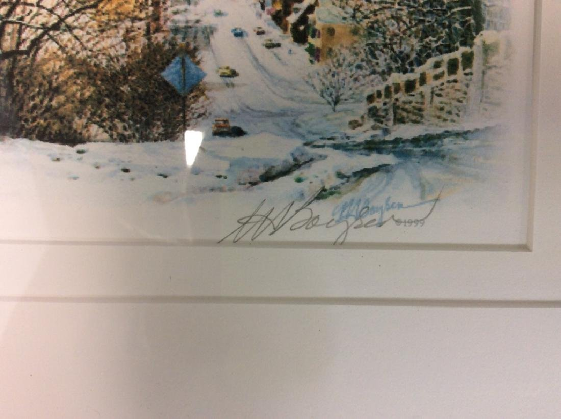 Signed Mary Ann, Ohio Scenery  Lithograph Framed - 7