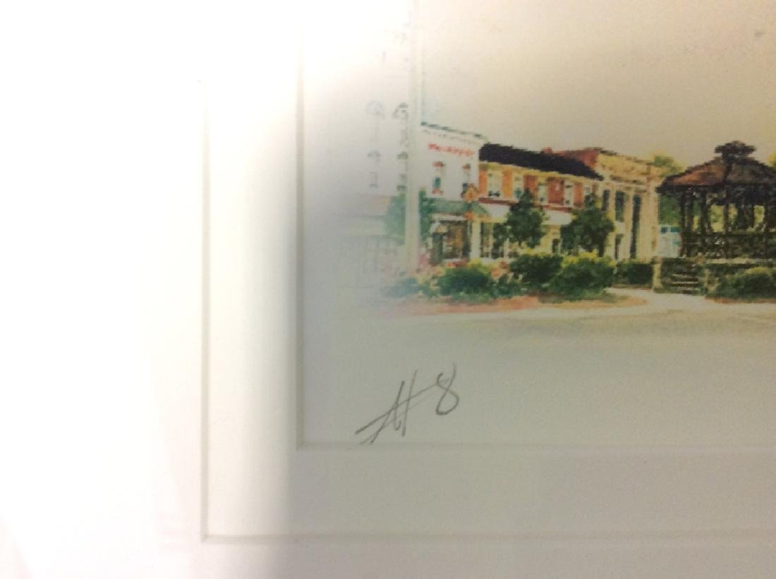 Signed Mary Ann, Ohio Scenery  Lithograph Framed - 8