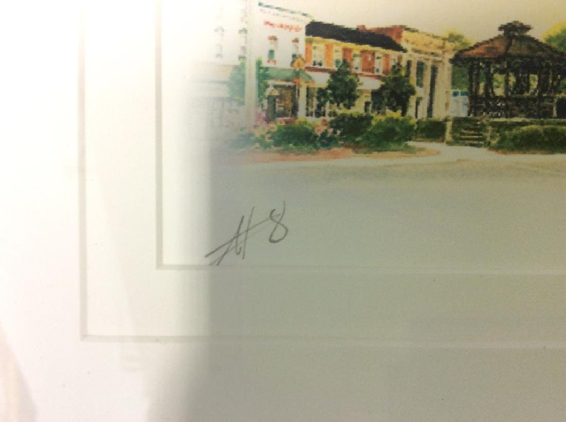 Signed Mary Ann, Ohio Scenery  Lithograph Framed - 9