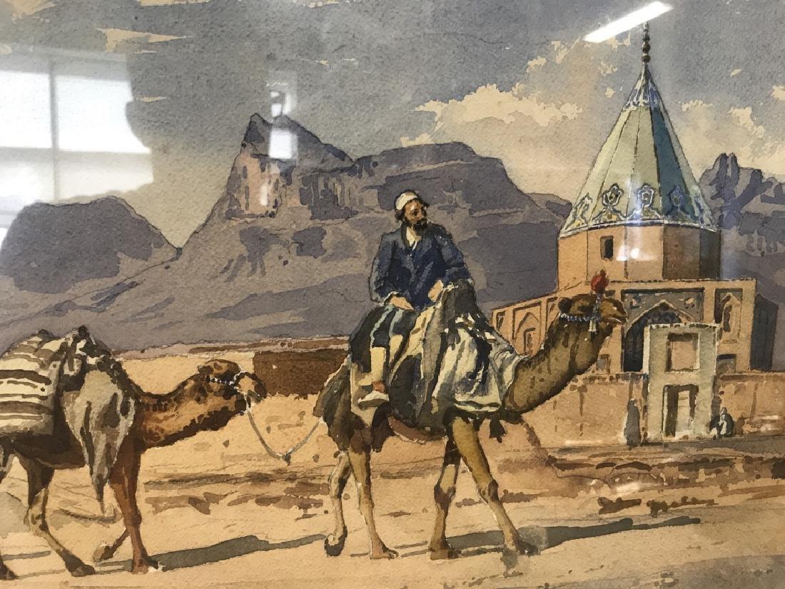 YERVAND NAHAPETIAN Iranian Watercolor, 1953
