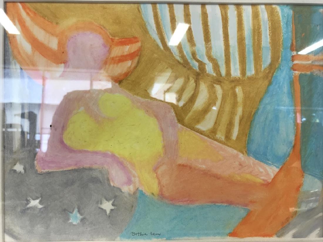 BETHIA LEU Watercolor Painting Framed
