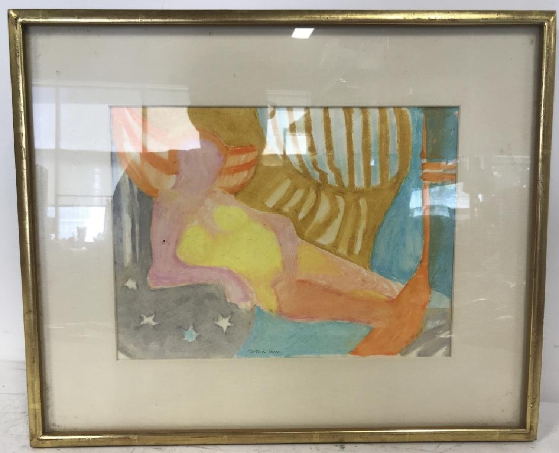 BETHIA LEU Watercolor Painting Framed - 2