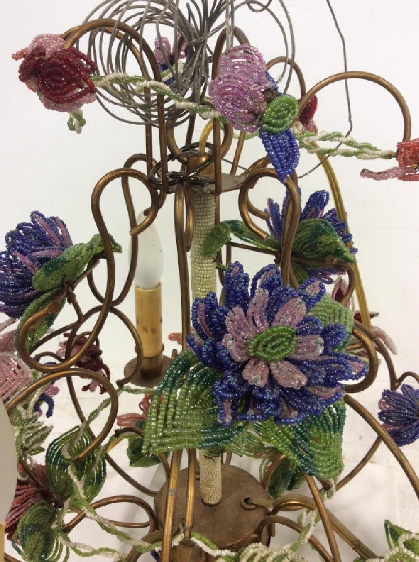 Vintage Hand Beaded Floral Chandelier
