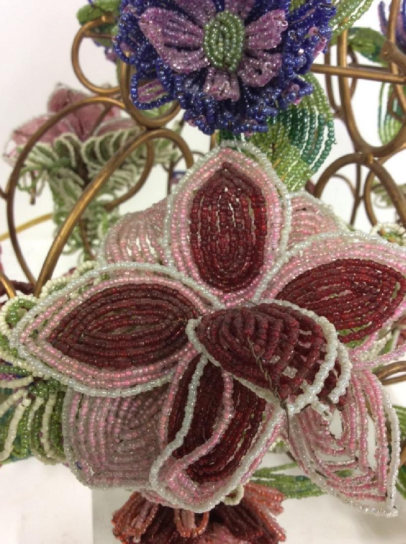 Vintage Hand Beaded Floral Chandelier - 3