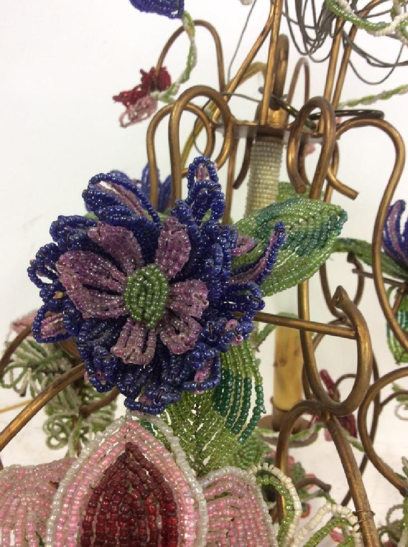 Vintage Hand Beaded Floral Chandelier - 4