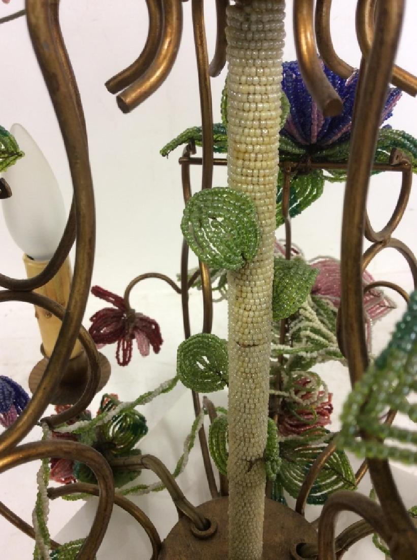 Vintage Hand Beaded Floral Chandelier - 5