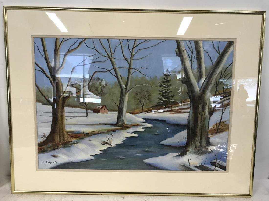 Lot 2 E. POTYRALA Signed Watercolor Paintings - 3
