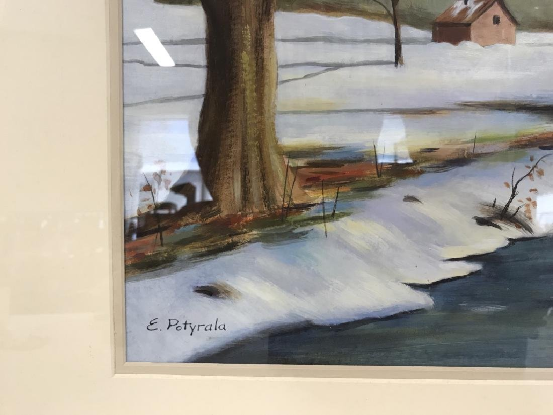 Lot 2 E. POTYRALA Signed Watercolor Paintings - 4
