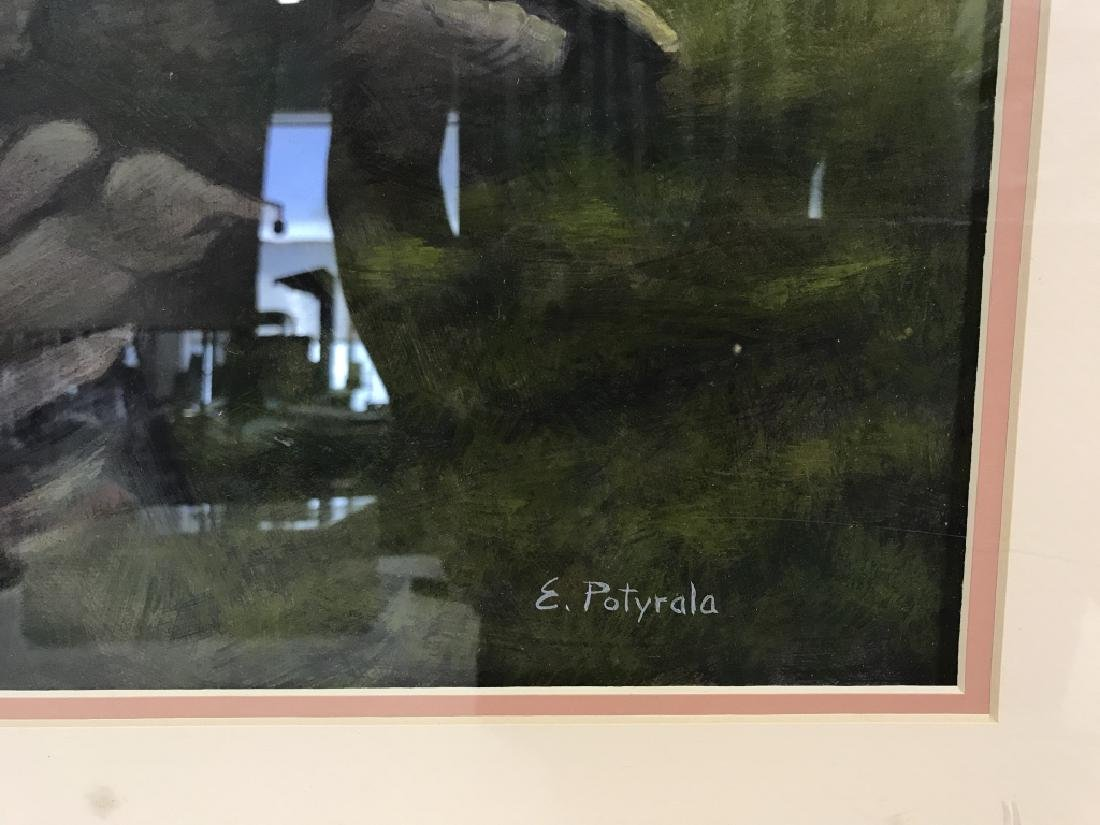Lot 2 E. POTYRALA Signed Watercolor Paintings - 5
