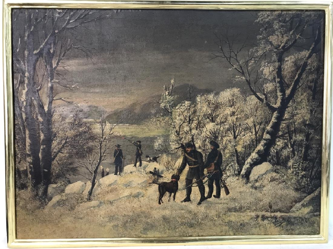 Vintage Signed Russian Oil on Canvas Painting