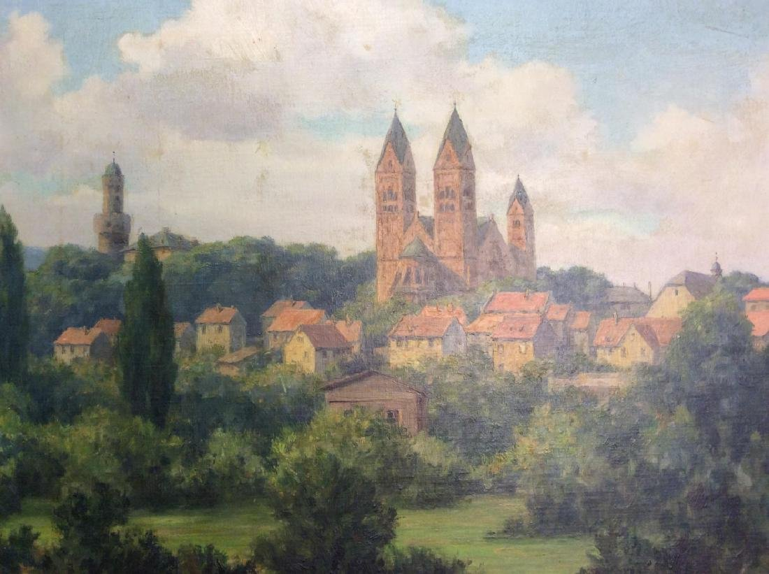 Bad Homburg 1945 Oil Painting by H.Hellbusch