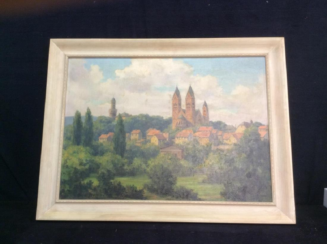 Bad Homburg 1945 Oil Painting by H.Hellbusch - 2