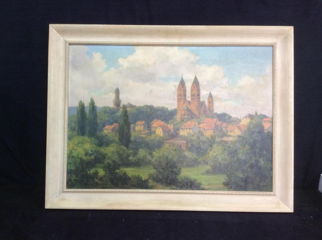 Bad Homburg 1945 Oil Painting by H.Hellbusch - 3